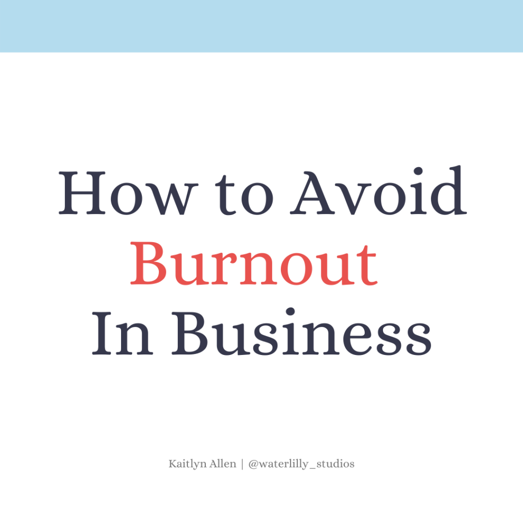 how to avoid burnout in business